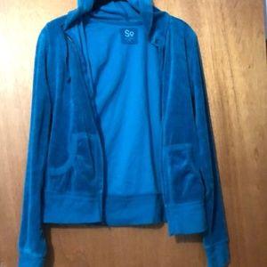 So blue zip up hoodie medium